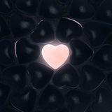 3D rendering beautiful glowing heart Stock Photography