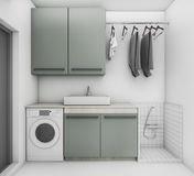 3d rendering beautiful laundry room with clean condition Royalty Free Stock Photos