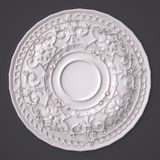 3d rendering beautiful white Gypsum carving decoration of architecture. classic interior detail made of plaster. 3d rendering beautiful white Gypsum carving Stock Illustration