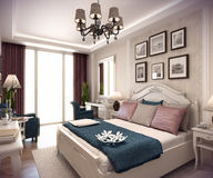 3D rendering bedroom house in the mountain Stock Photography
