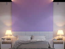 3d rendering of bedroom interior design in a modern style. Royalty Free Stock Images