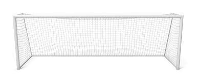 3d rendering bielu futbolu puste bramy odizolowywać na białym tle royalty ilustracja