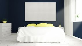 big picture frame on a bedroom Stock Images