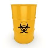 3D rendering biohazard barrel Stock Photos