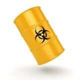 3D rendering biohazard barrel Royalty Free Stock Photos