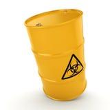 3D rendering biohazard barrel Royalty Free Stock Images