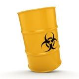 3D rendering biohazard barrel Royalty Free Stock Photography
