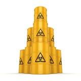 3D rendering biohazard barrels Royalty Free Stock Photos