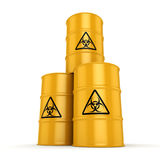 3D rendering biohazard barrels Stock Images
