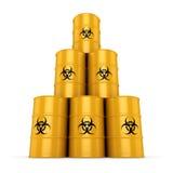 3D rendering biohazard barrels Stock Image