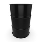 3D rendering black barrel. Not contain any inscriptions Stock Photo