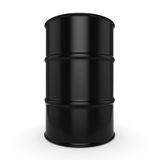 3D rendering black barrel. Not contain any inscriptions Stock Image