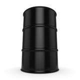 3D rendering black barrel. Not contain any inscriptions Stock Photos