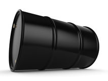 3D rendering black barrel. Not contain any inscriptions Royalty Free Stock Image