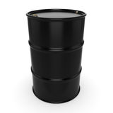 3D rendering black barrel. Not contain any inscriptions Stock Images