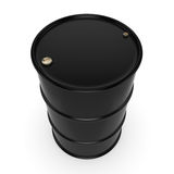3D rendering black barrel. Not contain any inscriptions Royalty Free Stock Photography