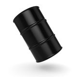 3D rendering black barrel. Not contain any inscriptions Royalty Free Stock Images
