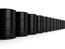3D rendering black barrels. Not contain any inscriptions Stock Photo