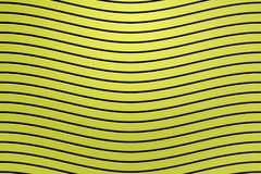 3d rendering, black curved line on yellow plastic wall surface, abstract background.  royalty free illustration