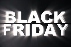 3D Rendering Black Friday sale inscription design template. Black Friday banner. Text in the wall.  Stock Photo