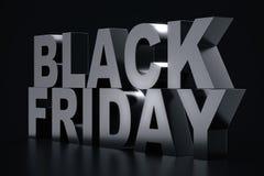 3D Rendering Black Friday, sale message for shop. Business hopping store banner for Black Friday. Black Friday sale. Inscription design template. Banner for Stock Image