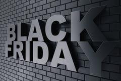 3D Rendering Black Friday, sale message for shop. Business hopping store banner for Black Friday. Black Friday sale. Inscription design template. Banner for Stock Photo