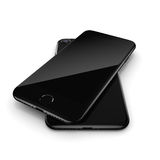 3D rendering black glossy smart phone with black screen Stock Photography