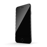 3D rendering black glossy smart phone with black screen Stock Photo