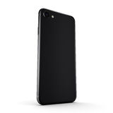 3D rendering black matt smart phone with black screen Royalty Free Stock Photos