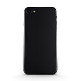 3D rendering black matt smart phone with black screen Stock Photography