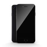 3D rendering black matt smart phone with black screen Royalty Free Stock Photography