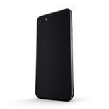 3D rendering black matt smartphone in iPhone stule with black sc Stock Photo