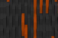3D rendering of black matte plastic waves with colored elements Royalty Free Stock Image