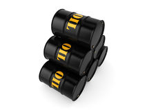 3D rendering Black oil barrels Royalty Free Stock Photography