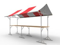 3d rendering of a market stall isolated in white studio background royalty free illustration