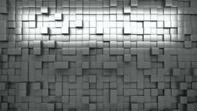 3D rendering. Black and white extruded cubes. Abstract background. Loop. stock video footage