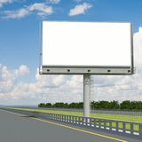 3d rendering blank billboard 03. 3d modeling Royalty Free Stock Photography