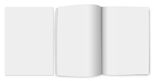 3d rendering of a blank brochure Royalty Free Stock Photo