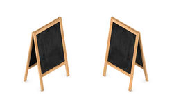 3d rendering of a blank easel chalkboard in double-sided isometric view. Royalty Free Stock Photography
