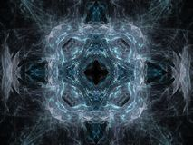 3D rendering with blue abstract fractal pattern.  Royalty Free Illustration