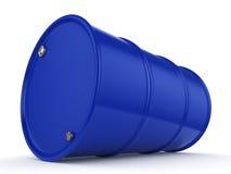 3D rendering blue barrel Royalty Free Stock Images