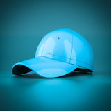 3D rendering blue baseball cap Stock Photography