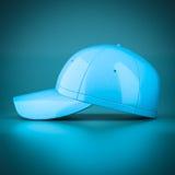 3D rendering blue baseball cap Stock Images