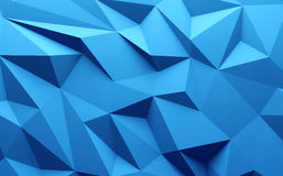 3D rendering Blue color triangle geometrical background Royalty Free Stock Images