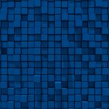 3d rendering of blue cubic random level background. Stock Photo
