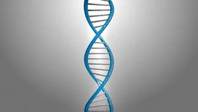 3d rendering blue DNA structure abstract background royalty free stock photo