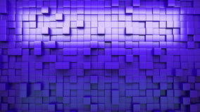 3D rendering. Blue extruded cubes. Abstract background. Loop. stock footage