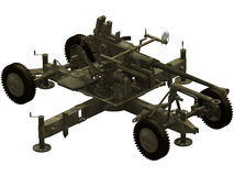 3d Rendering of a Bofors 40mm AA Gun Royalty Free Stock Photography