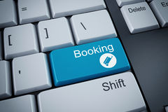 3D rendering of booking keyboard. 3D rendering of booking button on keyboard Royalty Free Stock Image