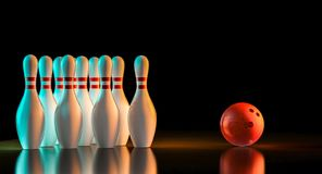 3d rendering of bowling stuff Stock Illustration